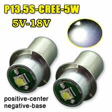2X of PR2 PR3 6000K CREE Maglite LED Bulb 5V-18V Magnum Star Torch FLAHSLIGHT