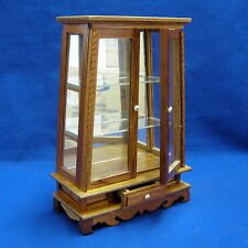 WOODEN DISPLAY CABINET FOR DOLLHOUSE MINIATURE (W64A)