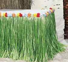 HIBISCUS GREEN LUAU GRASS TABLE SKIRT  9 FT X APPROX 29""