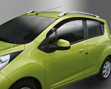 Front and Rear Smoke Side Window Weather Deflect for 2015 Chevrolet Spark