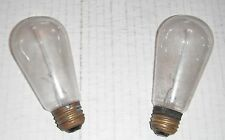 Old light bulbs-2--probably Edison...Clear Elongated Shape
