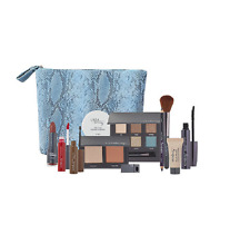 NEW Ulta Beauty 12 piece Makeup Gift Set Kit Blue Bag - $88 Value NWT-& BONUS!