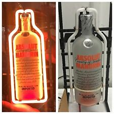 NEW Absolutely RARE Absolut Vodka Mandarin Orange Neon Light Bottle