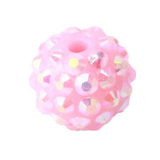 120x 110282+ Wholesale New Colorful AB Pink Resin Rhinestones Charms Ball Beads