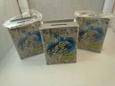 Lot 3 DC Comics background Justice league Batman Tin Coin piggy bank  NEW