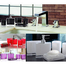 5PCS Suit Acrylic Bathroom Accessories Set Bath Cup Toothbrush Holder Soap Dish