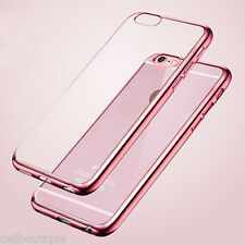 For Apple iPhone 6/6S TPU Gel Jelly Skin Case / Cover Crystal Clear Rose Gold