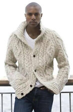 Men's Hand Knitted Cardigan XS,S,M,L,XL,XXL jacket Wool Hand Knit sweater 5a