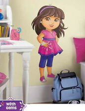 "DORA THE EXPLORER wall stickers MURAL 12 big decals GROWING UP 38"" tall GEMS"