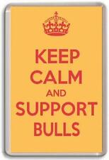KEEP CALM AND SUPPORT BULLS, BRADFORD BULLS RUGBY LEAGUE TEAM Fridge Magnet