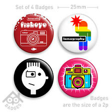 LOMO LC-A + Holga Diana Fisheye Camera Badge - Set of 4 x 25mm Badges Set 1