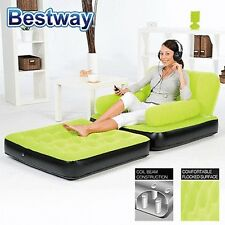 Bestway Inflatable 2 in 1 Multi-functional Couch Sofa Chair Air Bed Single Green