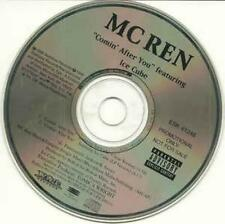 MC Ren: Comin' After You PROMO MUSIC AUDIO CD From N.W.A. Ice Cube Clean & LP 2t