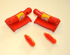 2 Vtg Premuim Toy Oscar Meyer Wieners Hot Dogs Plastic Whistle Gum NOS New 70s