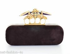 ALEXANDER McQUEEN BEETLE MEADOW KNUCKLE SKULL BOX CLUTCH BAG BNWT RARE