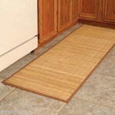 "water resistant bamboo accent rug mat runner non slip indoor outdoor 24""x72"" new"