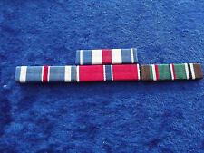 Ordensspange WWII 4 Ribbons: Silver Star, Flying Cross, Bronze Star, Europa/Afr