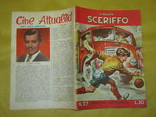 IL NUOVO SCERIFFO N°27  NOVEMBRE 1957 SUL RETRO CLARK GABLE