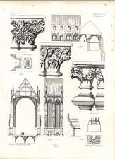 Gothic Erfurth Cathedral Elevation Chapterhouse Arch Mould Sections
