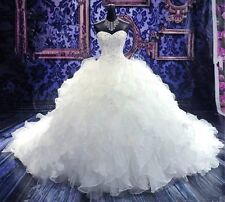 New white/ivory Ball Gown Wedding Dress Custom Size 2-4-6-8-10-12-14-16-18 20