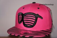 EXCLUSIVE FUSCHIA SPECS SNAPBACK CAP, AZTEC PINK FLAT PEAK FITTED HAT, BASEBALL