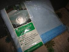 VINTAGE BRENTWOOD ACRYLIC BLUE RIBBON POLYESTER TWIN/FULL BLANKET 72 X 90