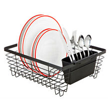 Top Quality Flat Wire Dish Rack Durable Metal Drying Kitchen Drainer Holder Sink