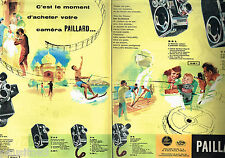 PUBLICITE ADVERTISING 055  1959  PAILLARD BOLEX  caméras  ( 2 pages)