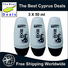 Peace Axe Dry ROLL-ON DEODORANT FOR MEN 3 X 50ML excellent Value