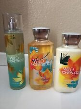 BATH AND BODY Works Wild Honeysuckle Body  Lotion, Shower Gel And Frag Mist