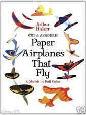 PAPER AIRPLANES that FLY ~ 8 FULL COLOR MODELS ~ CUT & ASSEMBLE ~ GR8 BOY TOY!