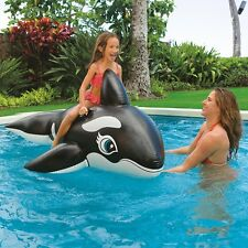 Intex Orca Whale Ride On  Swimming Pool Float Inflatable with Grab handles