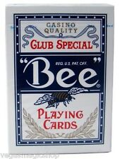 """""""Bee"""" Standard Blue Deck Playing Cards Poker Size USPCC Casino Quality Sealed"""