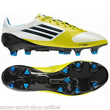ADIDAS f50 Adizero XTRX SG miCoach in pelle tg. uk-7 FB. RUNWHT/Black/Lab v21450