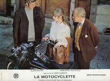 MARIANNE FAITHFULL  THE GIRL ON A MOTORCYCLE 1968 LOBBY CARD #11 HARLEY DAVIDSON