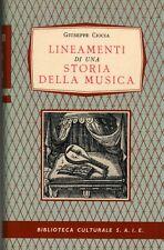 Ciocia Giuseppe, Lineamenti di una storia della musica, 1958