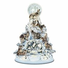 THE SPIRIT WHITE WOLF & WOLVES LIGHTED TABLETOP christmas FIGURINE NEW