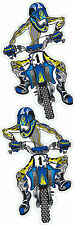 Adhesive Set Blue Enduro 11x6cm Blue Moto Cross Decal Set Suzuki Honda Yamaha