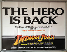Cinema Poster: INDIANA JONES TEMPLE OF DOOM 1984 (Advance Quad) Harrison Ford