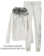 Victoria's Secret Fleece Fashion Show crystal Bling Zip Hoodie NYC 2015 SET S
