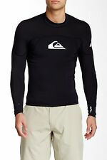 QUIKSILVER MENS SYNCRO METALITE WETSUIT SURF TEE BLACK XS EXTRA SMALL NWOT $75
