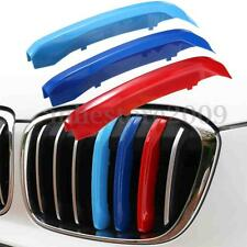 3pcs Front Center Grille Trim M Color Strip Decorate Covers For BMW X1 F48 16-17