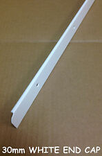 Kitchen Worktop Edging Trim WHITE END CAP 30mm with screws *NEW* *EBAY BARGAIN*