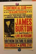 JAMES BURTON + SOUTHERN CULTURE ON THE SKIDS Austin TX (2011) CONCERT POSTER