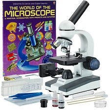 40X-1000X Portable Student Microscope with Slide Preparation Kit and Book