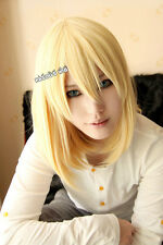 Howl's Moving Castle Howl light yellow straight 40cm long cosplay wig
