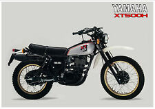 YAMAHA Poster XT500 XT500H 1981 VMX Superb Suitable to Frame