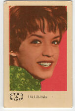 1960s Swedish Film Star Card Star Bilder A #124 Singer Actress Lill-Babs