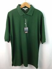 FeatherLite Silky Soft Knits Forest Green Poly/Cotton S/S Polo Shirt Lrg. NWT