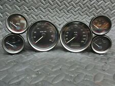 Harley Davidson 09-13 Black Touring Gauge Set Speedo, Tach, Air, Oil, Volt, Fuel
